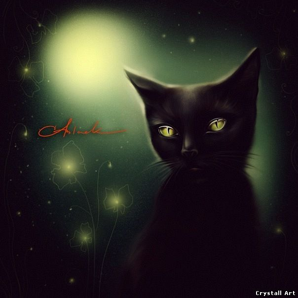 Crystall Art - Black Cat