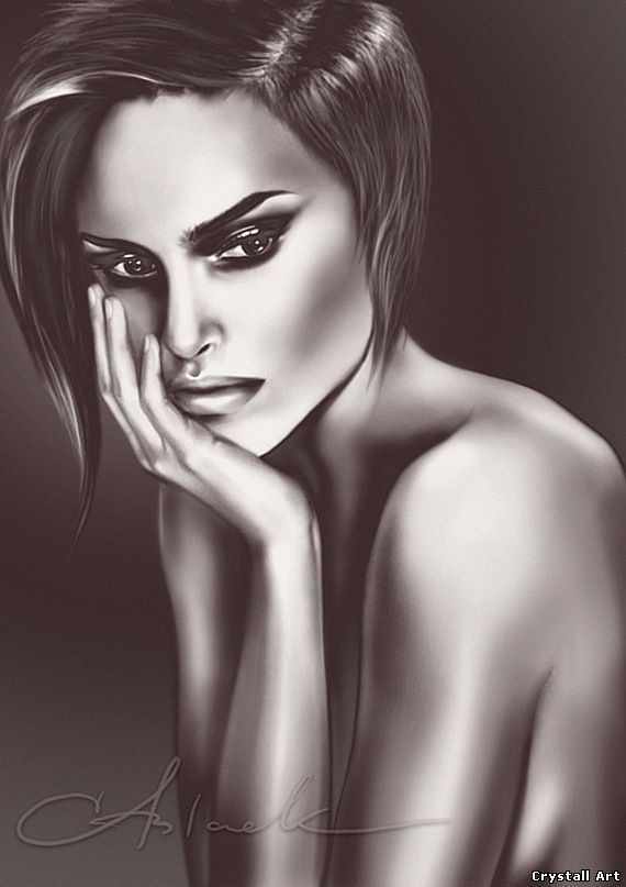 Crystall Art portrait of Natalie Portman